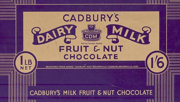 cadbury chocolate milk fruit nut
